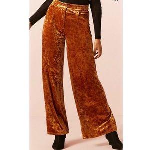 Forever 21 crushed velvet pants